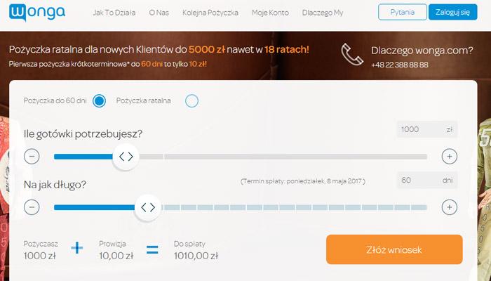 pożyczka wonga 5000 zł
